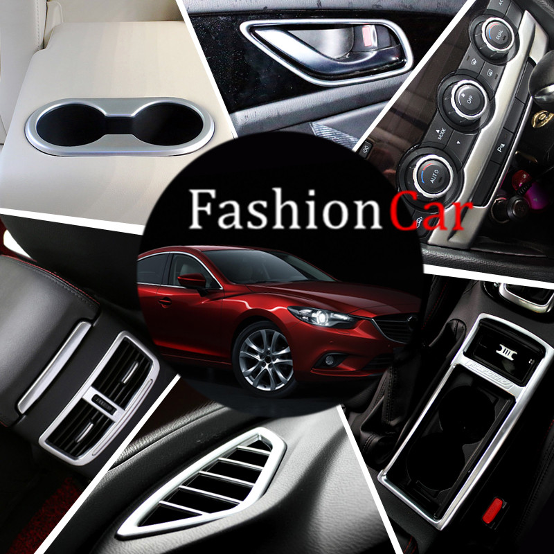 11pcs Interior Accessories Whole Kit Cover Trims For Mazda 6 M6 Atenza 2013 2014 2015 2016 car styling 9pc x free shipping xenon white for mazda 6 for mazda6 atenza wagon led interior light kit package 2013