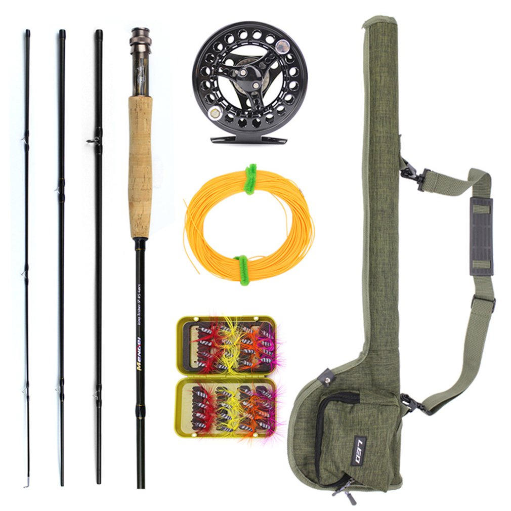Fly Fishing Rod Combo Carbon Fiber Medium-fast Fly Fishing Rod Fly Fishing Wheel Fishing Fly Line Lures with Bag DropshippingFly Fishing Rod Combo Carbon Fiber Medium-fast Fly Fishing Rod Fly Fishing Wheel Fishing Fly Line Lures with Bag Dropshipping
