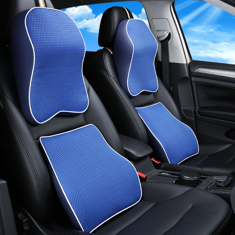 KKYSYELVA 4 Colors Memory Foam Seat Chair Lumbar Back Support Cushion Pillows for Office Home Car Auto Interior Accessories in Seat Supports from Automobiles Motorcycles
