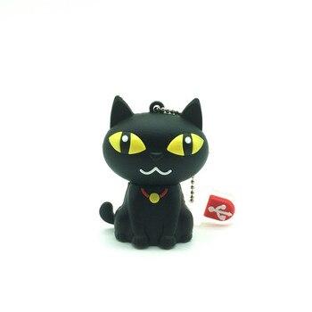 Top sell USB flash drive cat model pen drive lovely black cat flash card 4gb 8gb 16gb 32gb Pendrive USB stick full capacity