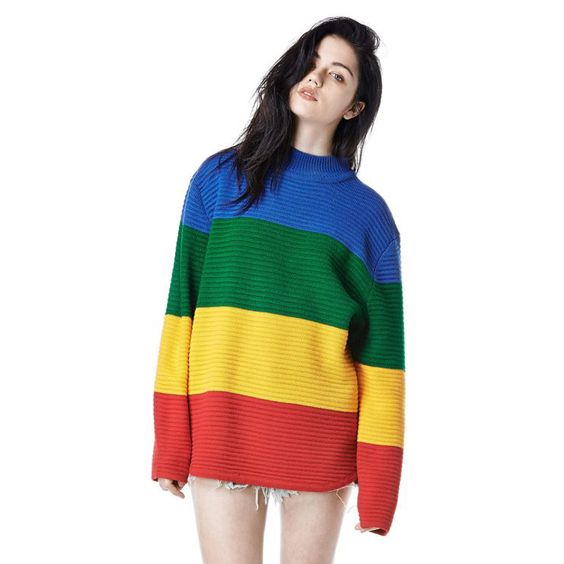 SexeMara Winter Pullovers Sweaters Women's Loose Knitted Sweaters ...