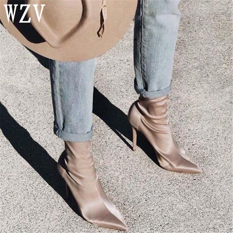 2018 New Ankle Boots 12cm Women Pumps