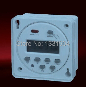 110/220VAC 12V/24VDC  Mini LCD Digital Power Weekly Programmable Control Timer Switch With the protective cover