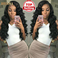 Spring Queen Hair With Frontal Peruvian Body Wave With Closure 4 Bundles Puruvian Hair Bundles With Closure Wet And Wavy Hair