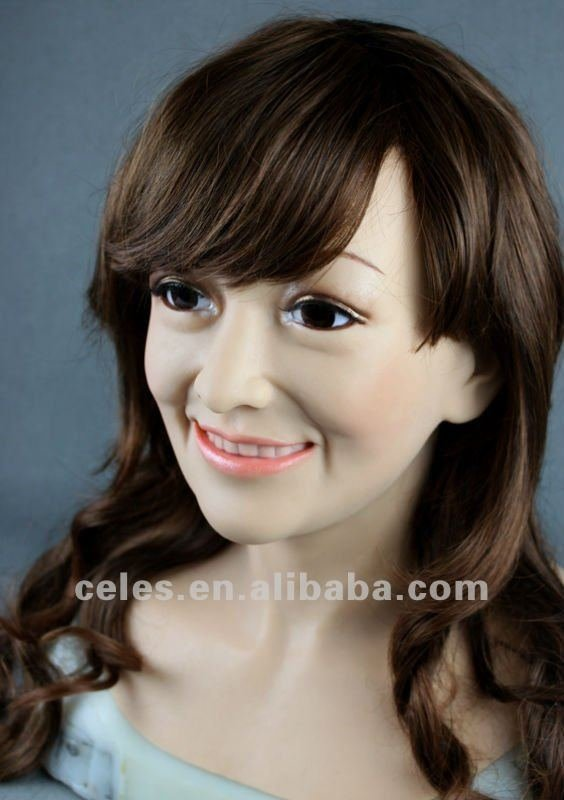 Lifelike mask SF-11 Cover the scars  Asia Female mask Cosplay props Non-toxic Factory