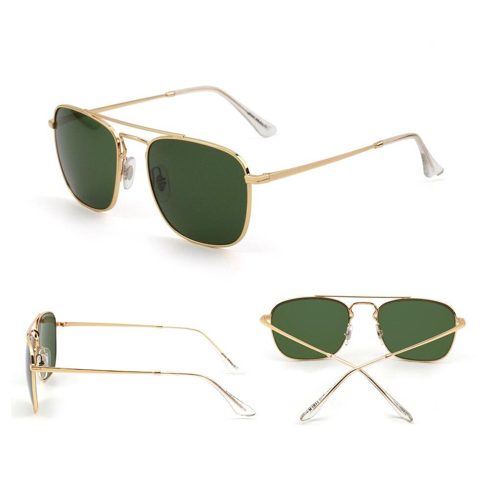 2b2ec7689f Jim Halo Retro Square Sunglasses Premium Glass Lens Flat Metal Eyewear Men  Women-in Sunglasses from Apparel Accessories on Aliexpress.com