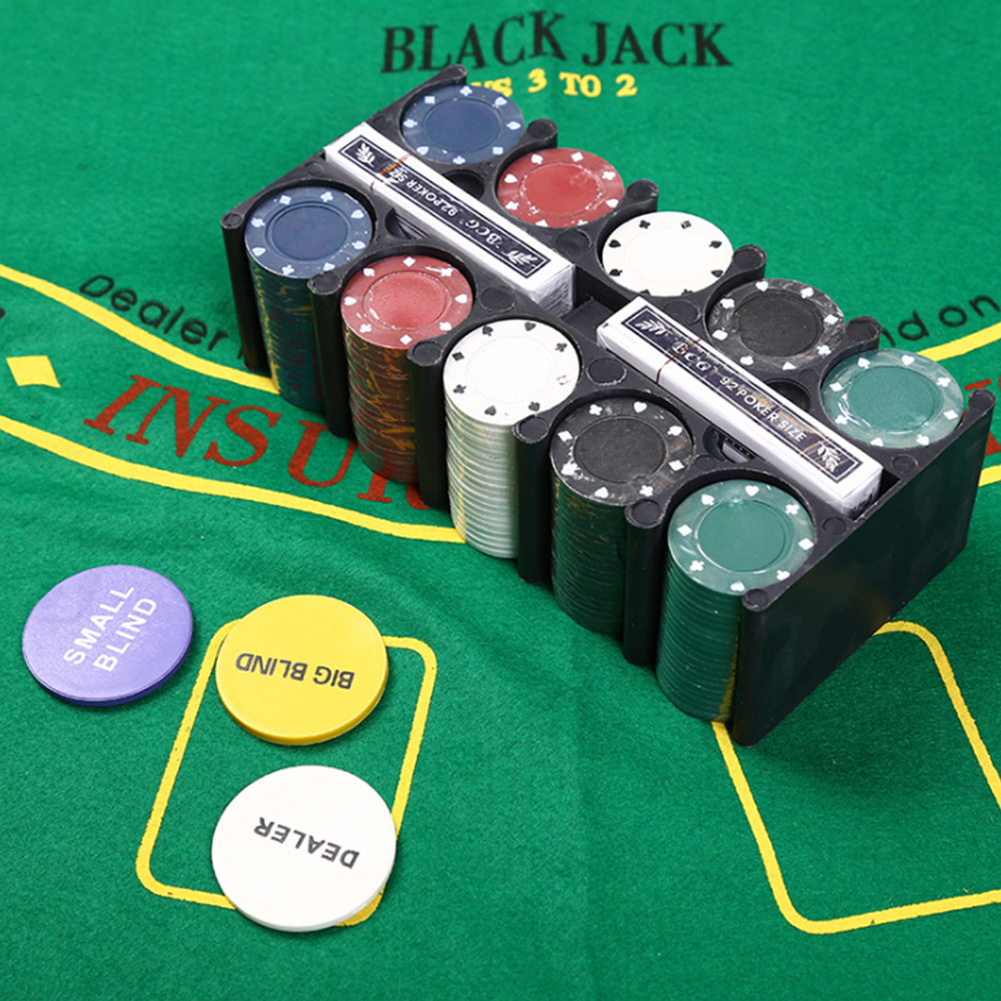 New Plastic Texas Hold'em Chips Professional Casino Poker European Poker Tour Poker Chips 200pcs With Chips