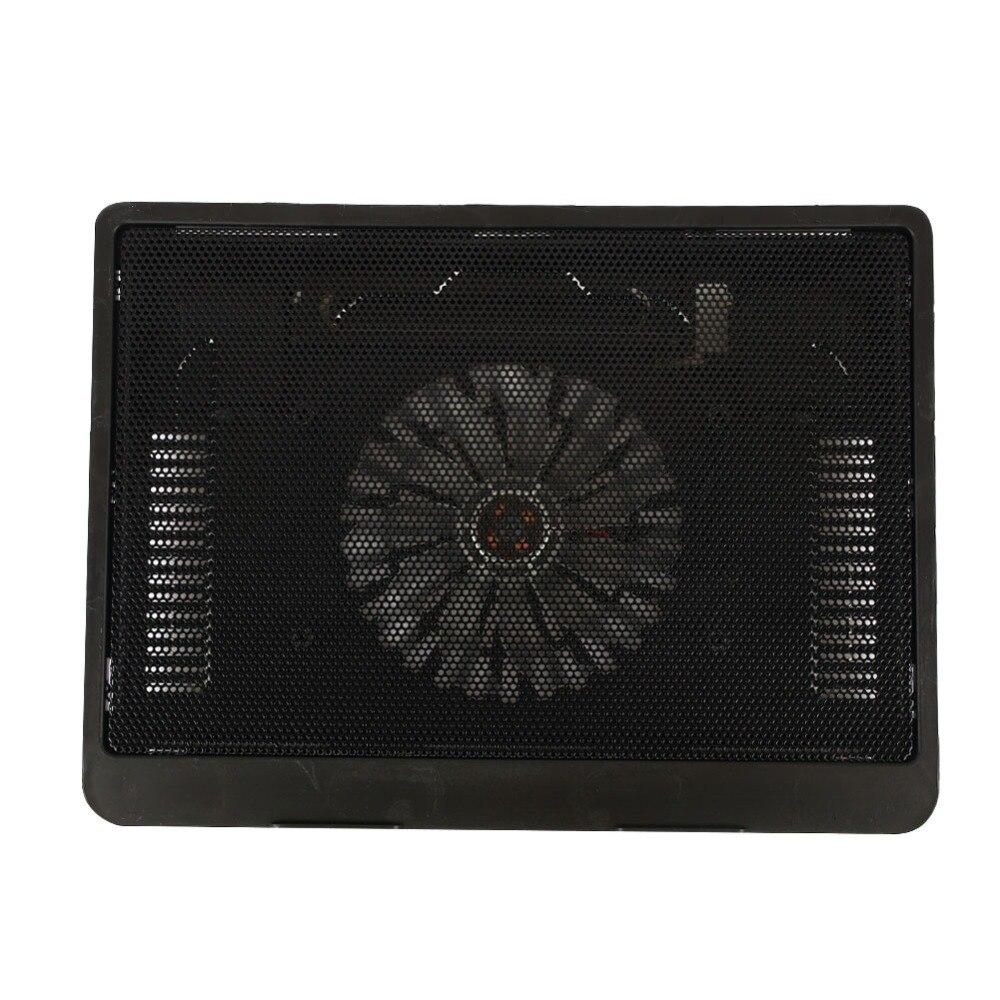 Черный с светодиодный usb-охладитель для ноутбука ABS+ алюминиевый сплав Регулируемая охлаждающая подставка под ноутбук кронштейн модный повышающий кронштейн