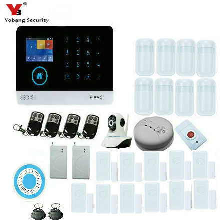 Yobang Security Wireless RFID Card Shock Sensor Detector WiFi Wireless Security System GSM Alarm System with APP Remote Control