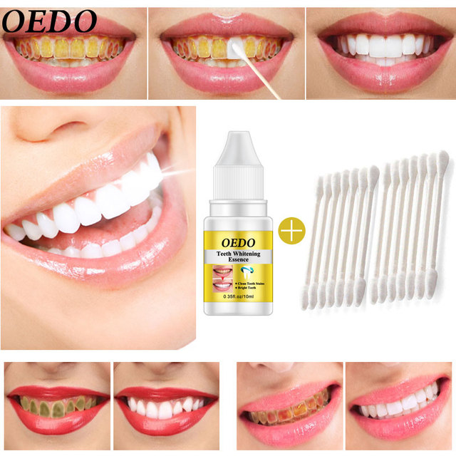 OEDO dientes blanqueamiento esencia polvo higiene bucal limpieza suero elimina las manchas de placa blanqueador dientes herramientas dentales pasta de dientes