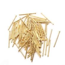 цена Pointed Spring Test Probe Spring Total Length 33.35mm Gold Plating For Testing Circuit Board Instrument Tool PA125-A2 100Pcs в интернет-магазинах