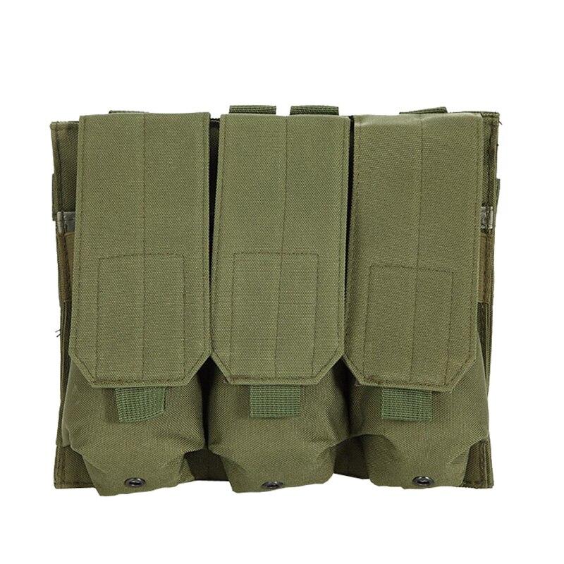 Molle Tactical Triple AR15 M4 5.56mm Mag Magazine Pouch  Pistol Handgun Shooting Vest Tool Dump Drop Hunting Airsoft Bag Pouches     - title=