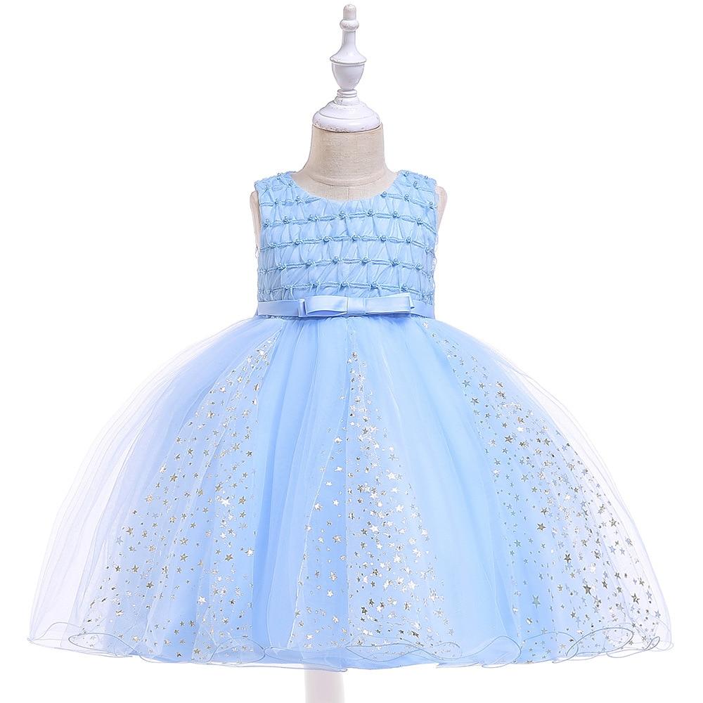 New Tulle Sky Blue   Flower     Girl     Dresses   For Weddings First Communion   Dresses   For   Girl   Tutu Party   Dresses