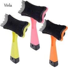 Профессиональная расческа для ухода ха шерстью животных с ручкой для коротких собак для стрижки волос массажные чистые щетки для собак, кошек, кроликов VD-001