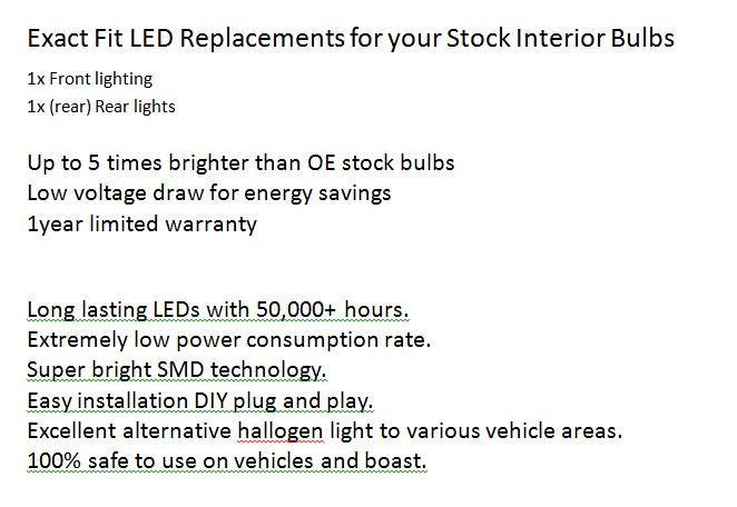 2 шт./лот автомобильный Стайлинг ксенон белый Canbus PackageKit светодиодный внутренний свет для Ford Focus MK1+ подтяжка лица Bj. 1996-2004
