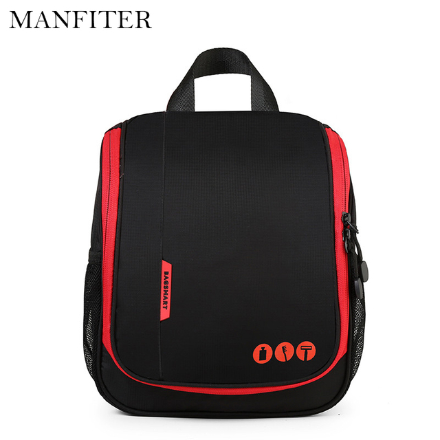 MANFITER New Cosmetic Bag Polyester Women Cosmetic Cover Fashion Cosmetics Cases Make Up Bag Toiletry Bags For Women Travel Bags