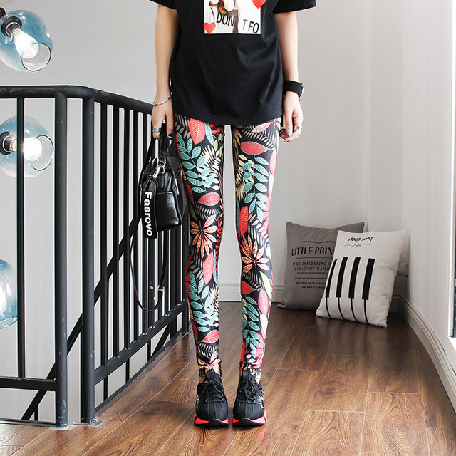 Fashion Leggings Sexy Casual Highly Elastic and Colorful Leg Warmer Fit Most Sizes Leggins Pants Trousers Woman's Leggings 5