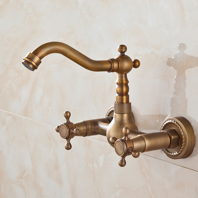 BECOLA wall mounted basin faucet bronze colour bathroom mixer tap ...
