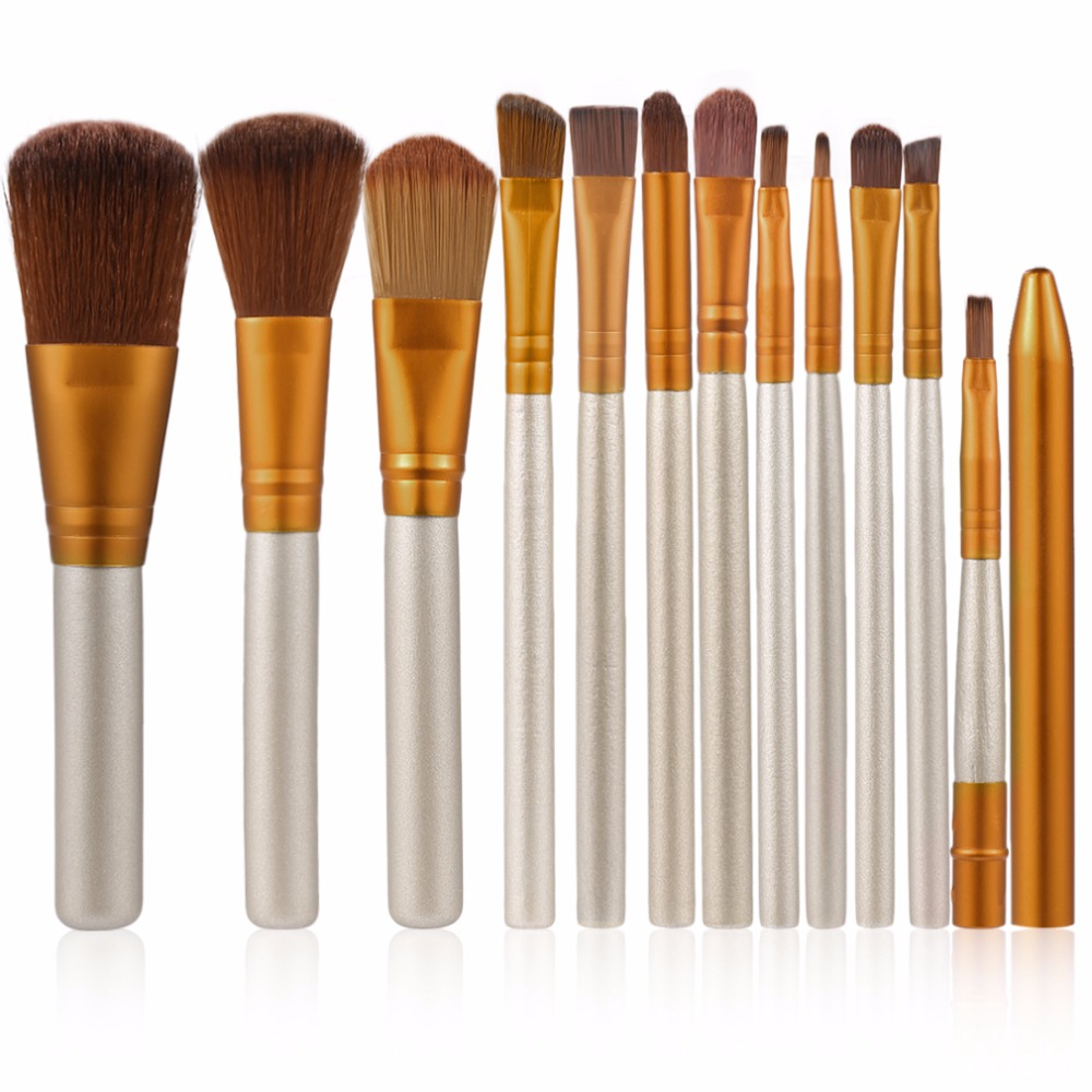 12 pcs/set Professional Cosmetics Makeup Brushes Set Soft Eyeshadow Powder Foundation Concealer Brush Face Make up Tools Kit 8pcs makeup brushes cosmetics eyeshadow eyeliner brush kit 15 color concealer facial care camouflage makeup palette sponge puff