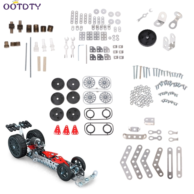 5 in 1 Assembling Metal Racing Car Mold Building Blocks Construction Kids font b Toy b