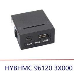 Nowy 1pc 2011 2012 2013 dla Hyundai ELANTRA AUX i gniazdo usb Assy dla konsoli oryginalna część OEM 961203X000 96120 3X000