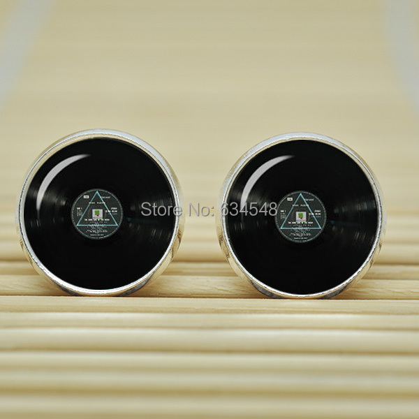 10pair Pink Floyd Dark Side Of The Moon Record Earrings Jewelry Gl Cabochon B3379