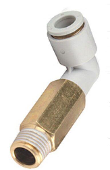 Sourcingmap/® Lot de 5 bouchons de tuyau pneumatique 1//4 PT /à filetage ext/érieur