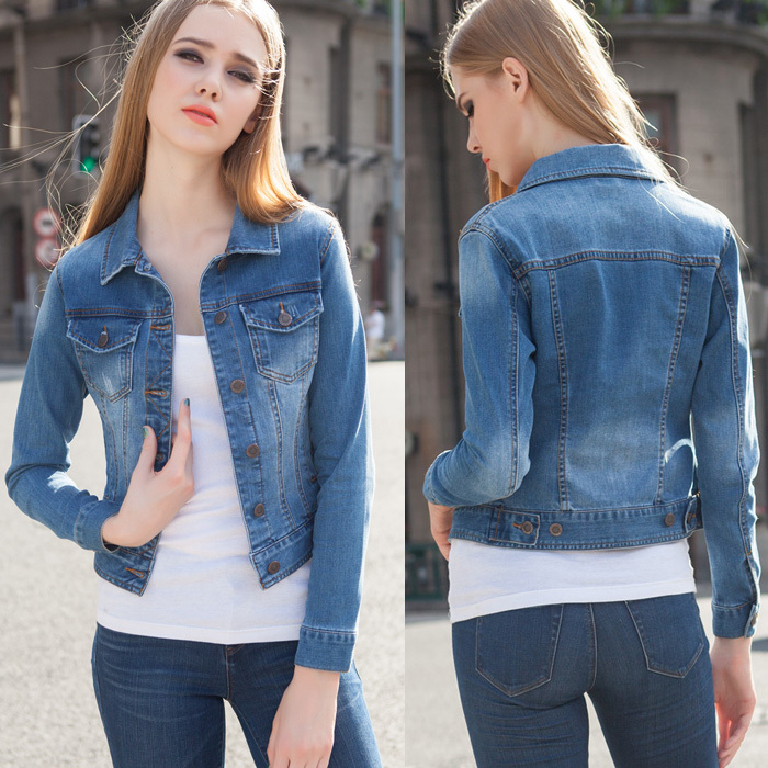 a96db024c117 2016 Women's denim coats&jackets women coat jean jacket new arrival fashion  brand desigual goes with evrything NZ443-in Basic Jackets from Women's  Clothing ...