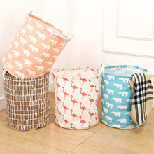 Washable Cotton Clothes Toy Storage Basket Storage Box Sundries Waterproof  Oversized Dirty Clothes Barrel(China