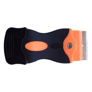 Image 4 - 1 adet jilet kazıyıcı 10 adet yedek Metal bıçaklar tutkal yapışkan Film boya seramik fırın soba araba ev zemin temizleme k05 sıcak