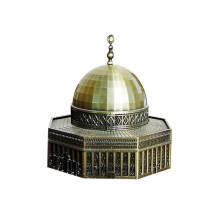 Europe Jerusalem Dome Model Miniature Figurine Creative Alloy Desktop Decor Craft Home Decoration Toy