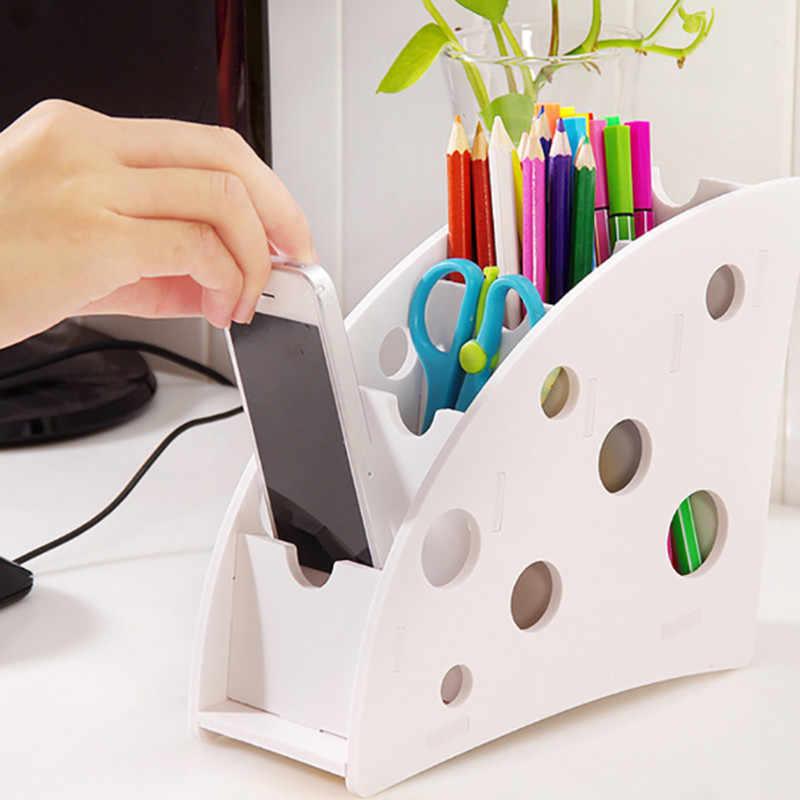 Nowe ekologiczne plastikowe drewno TV klimatyzator uchwyt na pilota Home biurowe rozmaitości futerał do przechowywania organizer na biurko Box