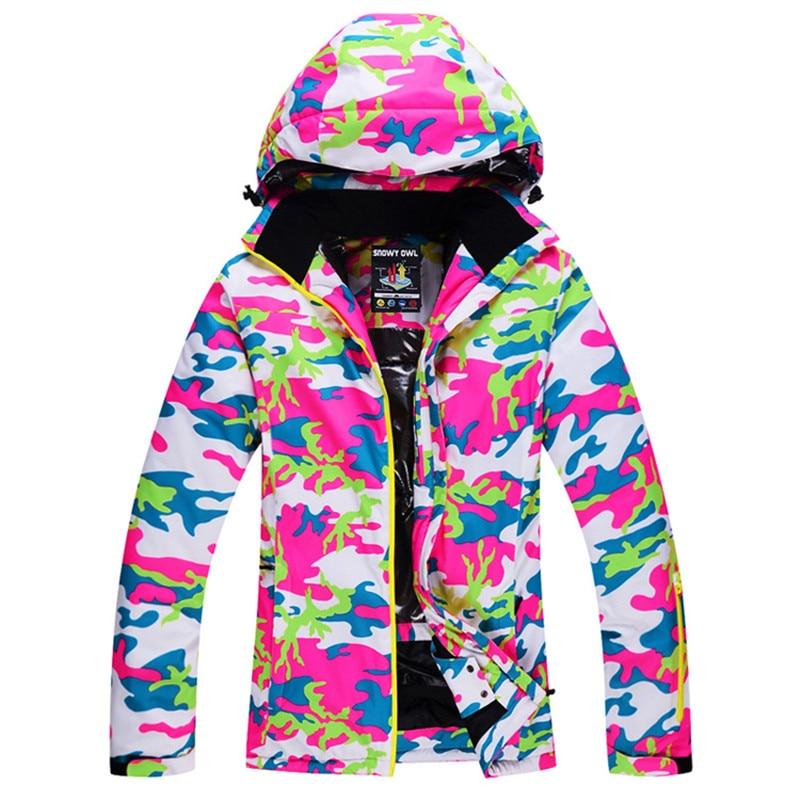 Saenshing Camouflage Winter Ski Jacket Women Super Warm Waterproof ...