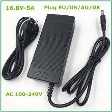 14.4V 14.8V 5A DC 16.8V שלושה שלבים ליתיום סוללה מטען for14500 14650 17490 18500 18650 26500 פולימר ליתיום סוללות