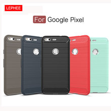 LEPHEE Google Pixel Case Google Pixel XL Cover Silicone Soft TPU Brushed Carbon Fiber Texture Protective Phone Case Luxury