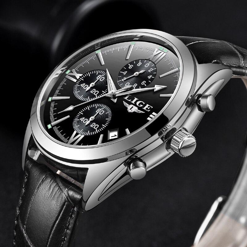Luxury Chronograph Quartz Watch Leather Band 1