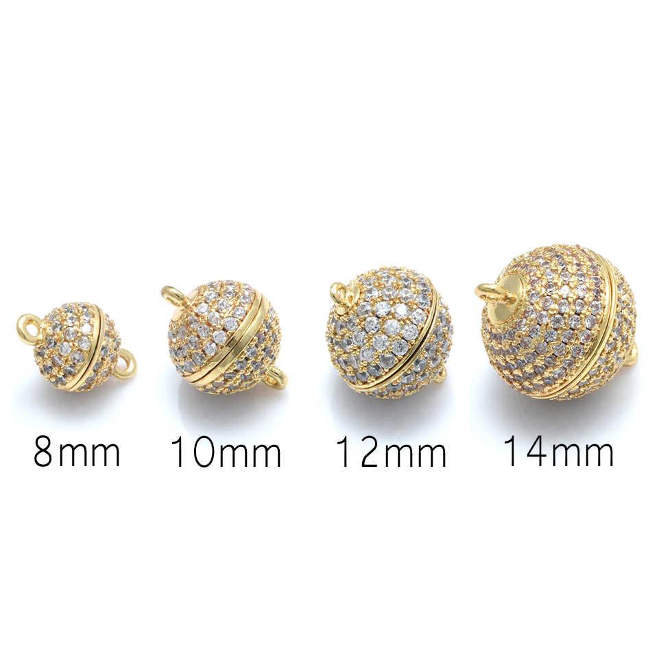 8mm/10mm/12mm/14mm Clasps แม่เหล็กสำหรับสร้อยคอไข่มุกสร้อยข้อมือ Buckle Hook Clasps ball อุปกรณ์เสริมสำหรับผลการค้นหาเครื่องประดับ