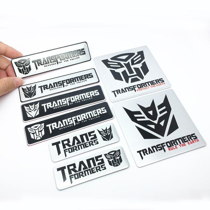 FTDF Car Styling 3D Aluminum Alloy Transformers Logo Car Stickers Emblem Badge Car Styling Car Decals Creative Auto Accessories