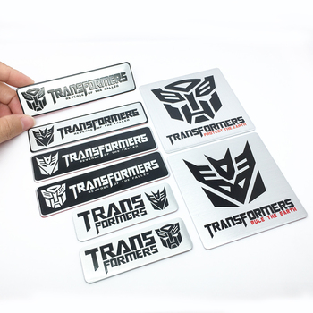 FTDF Car styling 3D Aluminum alloy Transformers logo car stickers Emblem Badge Styling Decals Creative Auto Accessories