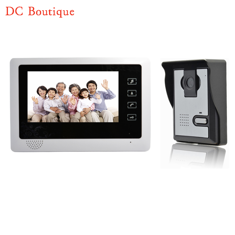 (1 set) 7 inch color screen 1 to 1 Video intercom Home use talk-back Door bell Night visible camera waterproof access control exported quality screen printing frame 7 5x10 inch 19x25cm wholesale price door to door