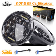CO LIGHT Car LED 7 Inch Round Headlight 75W 35W DRL Hi/Lo for Jeep Wrangler Hummer Lada Niva 4x4 Led Driving Light 12V 24V