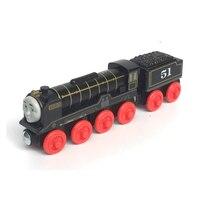Livraison gratuite thomas et amis en bois magnétique locomotive nouveau front pôle 51 hiro + voiture piste pour enfants toys
