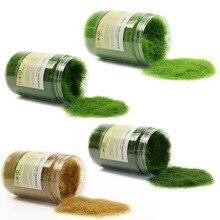 4 X 300ML 35g Miniature Scene Grass Flock Turf Flock Lawn Nylon Grass Powder 12mm STATIC GRASS 4 Bottles CFA4