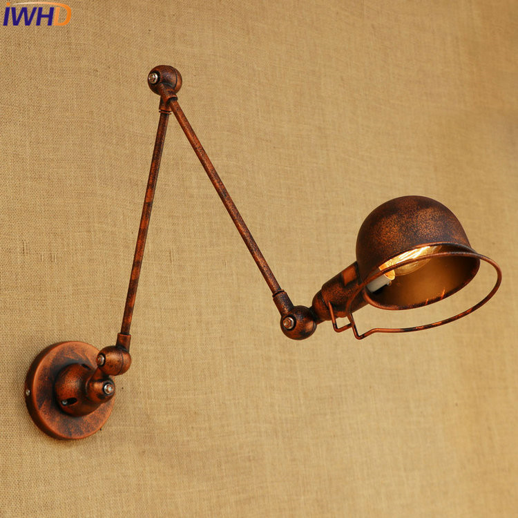 Adjustable Long Swing Arm Wall Light Fixtures Edison Retro Vintage Wall Lamp Loft Style Industrial Wall Sconce Appliques LED E14