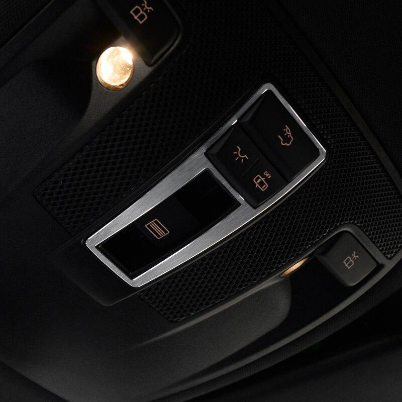 For Mercedes Benz CLA GLA A B Class W117 C117 W176 A180 Aluminum Alloy Reading Light Cover Trim Car Styling Mercedes-Benz CLA-класс