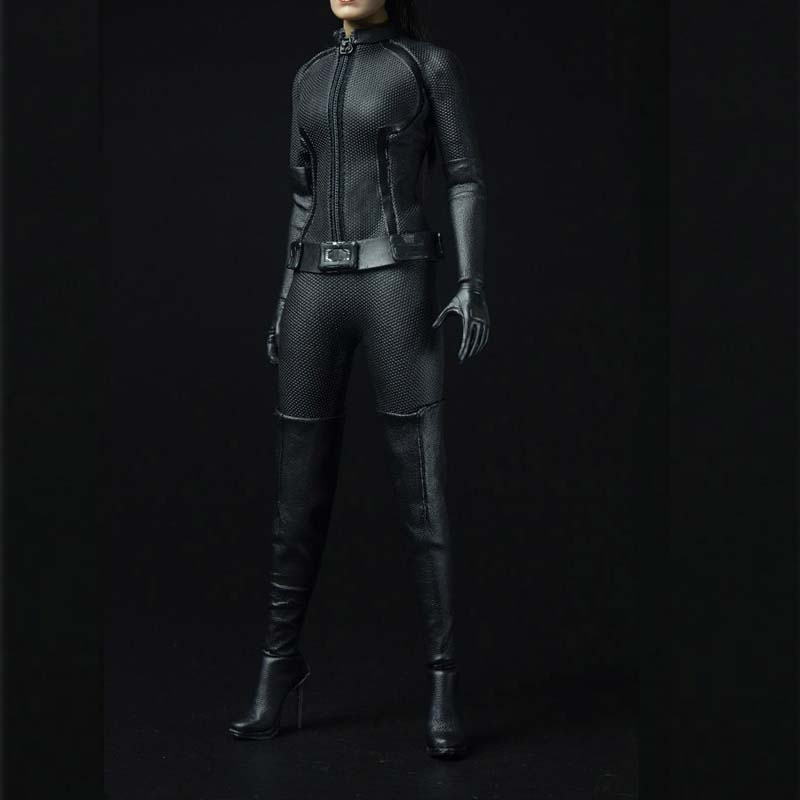 Mnotht 1/6 Scale Catwoman Clothes Suit One-piece garmen T-Shirt/Cuff/Belt/Boots Model For 12in   Action Figure Toys Collection mnotht 1 6 action figure panzer third