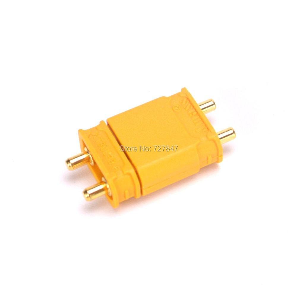 Высокое качество Amass черный/желтый XT30U XT30UPB Мужской Женский позолоченный разъем для подключения аккумулятора для самолета RC