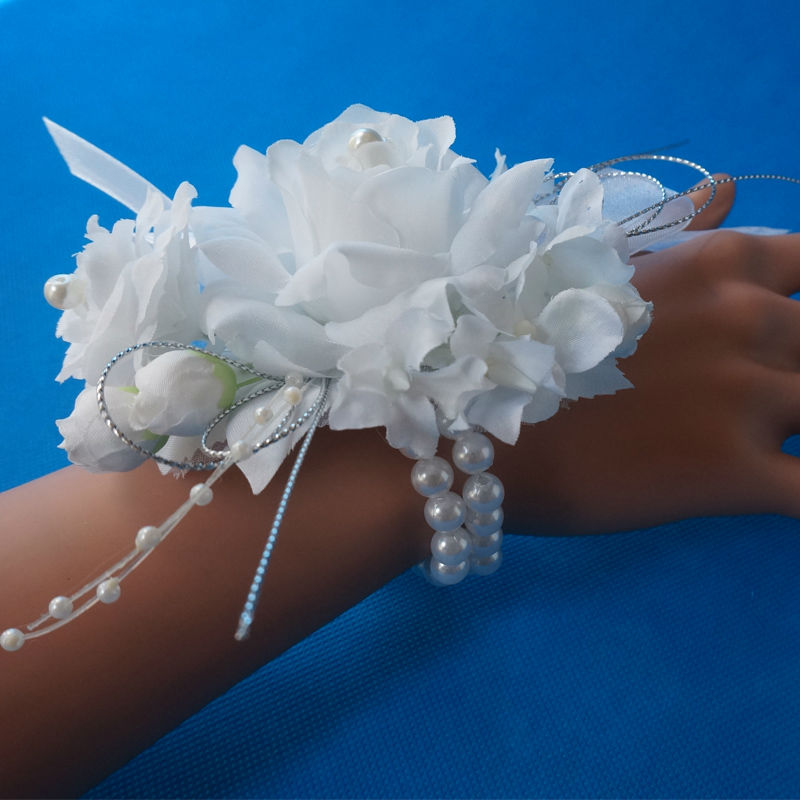 Brand Wrist Rose Flower Corsages For Bride or Bridesmaid With Elastic Bracelet of Pearl Artificial Flowers & Popular Corsage Flower Pearl Bracelet-Buy Cheap Corsage Flower ... 25forcollege.com