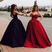 Tolles Design A Line Stain Abendkleid Neue Mode der Schulter Frau Formale Abendkleider vestidos de graduacion