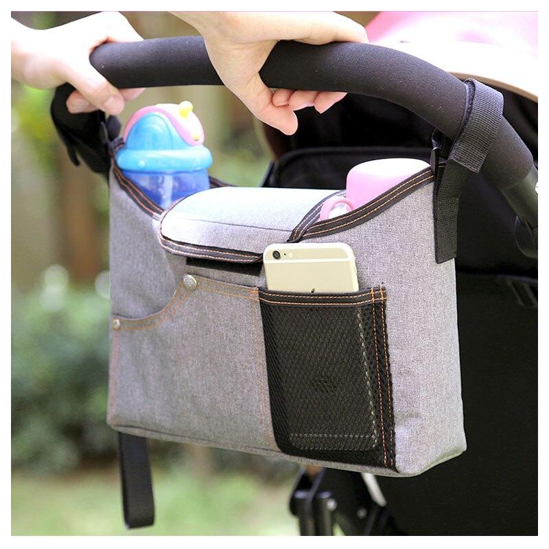 Poussette bébé sacs suspendus chariot de transport enfant crochets accessoires bébé poussette sac de rangement organisateur bébé panier porte-bouteille